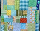 Baby Quilt, Custom Child's Bedding.  Gender Neutral, or Your Choice of Colors.