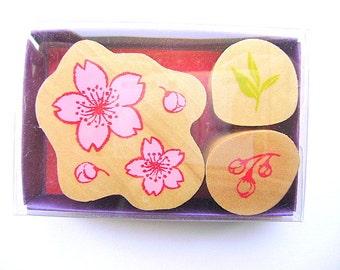 Japanese Rubber Stamp Cherry Blossoms Sakura