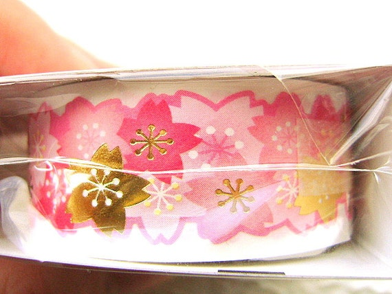 Cherry Blossom Stickers Japanese  Paper Sticker Tape