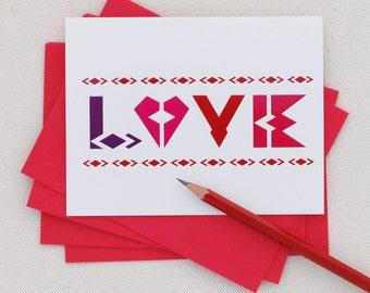 Valentine Card - Love - Modern Valentine by Oh Geez Design