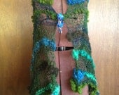Mermaid shawl scarf wrap handspun handknit green seaweed photoshoot art textile Ariel model photography texture fishing ocean photo