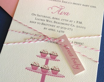 Sweet Baby- Baby shower or party invitation, set of 10