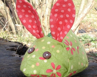 Rabbit Zipper Pouch PDF Sewing Pattern -- Instant Download