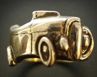 1932 Deuce Roadster Angled Wrap Ring in Sterling Silver