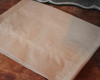 50 Kraft Bags--#8 Bags 8 1/4 X 11 -- Merchandise Bags