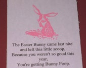 6 Gift Tags Easter Bunny Poop