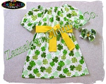 St. Patrick's Day Girl Dress - Toddler Baby Girl Shamrock Dress Custom Boutique Clothes Infant 3 6 9 12 18 24 Month Size 2t 3t 4t 5t 6 7 8