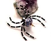 Halloween Spider Glass Bead Spider Christmas Spider Lampwork Spider Suncatcher