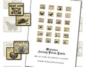 Miniature Dollhouse Fantasy Potion Labels II digital collage sheet for tiny witch or fairy dolls jewelry bottles 1:12 scale 1/12 scale