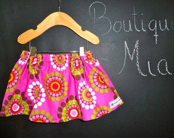 SAMPLE - Children Skirt - Mod Circles - Will fit Size 6-12 month to 12-24 month - by Boutique Mia and More - Ready To Ship