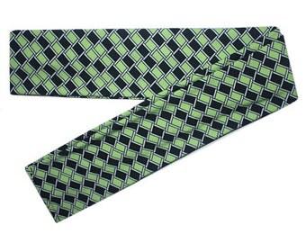 Scarf Headband, Scarf Head Band, Green Headband, Green Head Band, Green Hairband, Green Hair Band, Long Headband, Scarf Headband with Tails