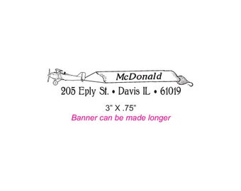 Plane Towing a Sign Custom Rubber Stamp AD269 or 143