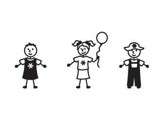 BABY / Toddler Stick Family Car Decal Custom This is for 1 baby sticker