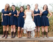 boots & bridesmaids infinity dress                    made to order in any color