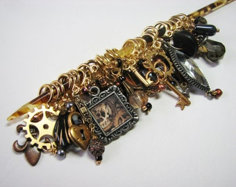 A Compendium of Steampunk Stitch Markers Based on Prof. Roesia Wheatear Knowlan's Charm Bracelet