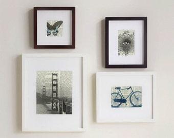 San Francisco, Set of Four Prints, Golden Gate Bridge