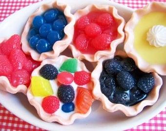 Mini Fruit Pie Soap - Dessert Soap, Food Soap, Soap Favors, Fruit Soap, Lemon Soap, Strawberry Soap, Blueberry Soap, Wedding Soap Favors