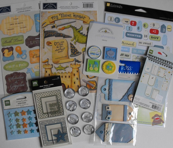 Baby Boy stickers for Scrapbooking Card Making Paper Crafting