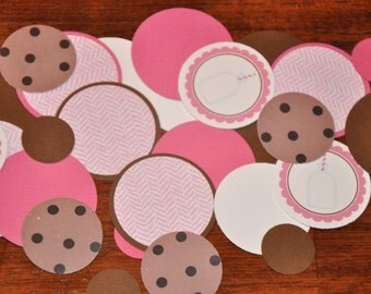 Milk and Cookies. Confetti. Milk and Cookies Confetti. Birthday. 125 pieces. Chocolate Chip Cookie. Choose boy or girl