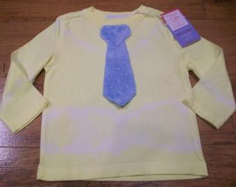 New Cutiepies Couture Custom boutique boys 12/18m Minky 3d tie