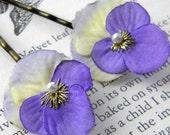 Little Lavender viola Clips
