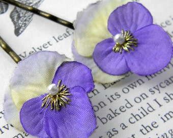 Little Lavender viola Clips