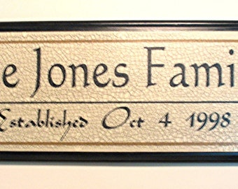 Family  ....Personalized sign