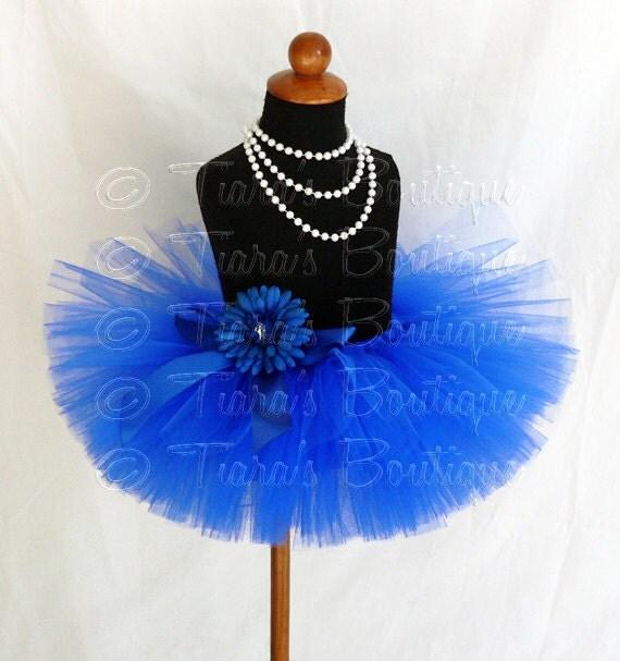 tutu skirt royal blue tutu birthday tutu