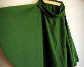 Custom Order for ej178 Organic Cotton Knit Circle Skirt, Olive