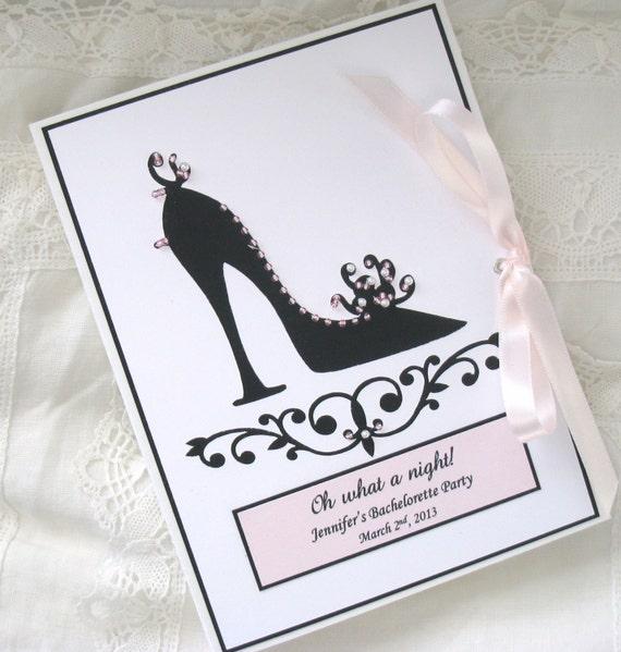 Personalized Bridal Shower Photo Album, Hand Beaded - Ladies Night, Girl Friend Gift 5x7, 6x7.5 Brag Book