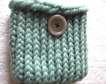 Mint Green Wool  Mini bag