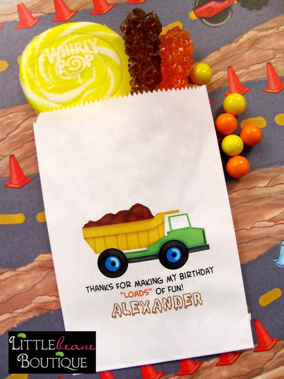 contruction candy bags construction birthday party dump truck favor rh catchmyparty com candy buffet bags candy bags for candy buffet wedding