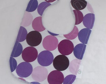 Purple Disco Dot and Chenille Bib