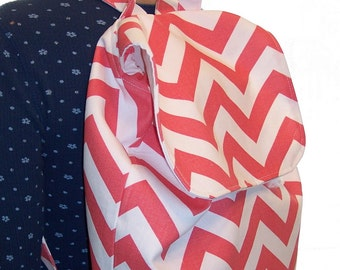 My Carrie Full Sized Coral and White Chevron Backpack Other Colors Available
