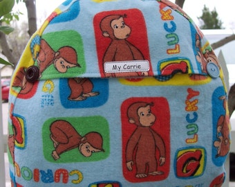 My Carrie Toddler/Baby Backpack made with Curious George Fabric