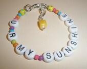 "ON SALE Toddlers Girls Bracelet Set ""U R My Sunshine"""