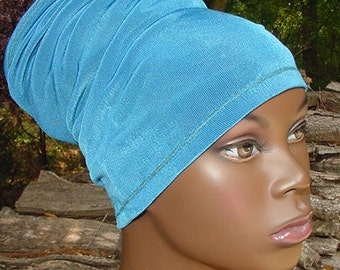 Headband-Tube-Dreadlocks-Locs-Turquoise Blue-Natural Hair Accessories