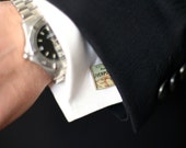Grooms Gift from Bride, World Map Cufflinks, Custom Cufflinks, Anniversary Gifts for Men, Anniversary, Wedding Anniversary