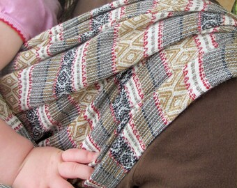 Woven Baby Wrap - 100% Wool Jacquard - soft, elegant, and comfortable - DVD included- Size 4, 3.6m