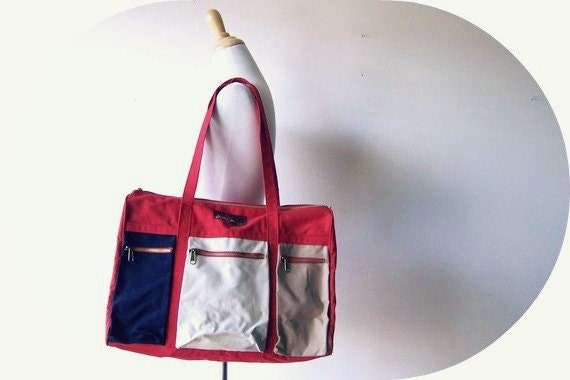 Vintage Multi-Pocket Jordache Bag