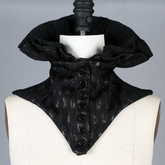 Reserved for Towerthorn Black Neck Collar Corset Scarf Scarflette Piece