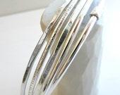Sterling Silver Bangles -Set of 5