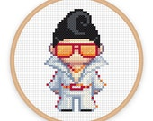 LEROY: a pixel art counted cross stitch pattern - digital download - printable pdf file