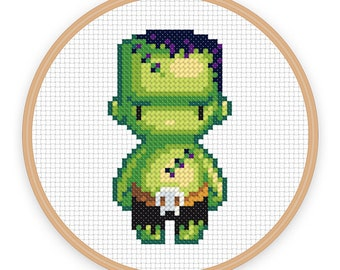 FRANKS: a pixel art counted cross stitch pattern - digital download - printable pdf file