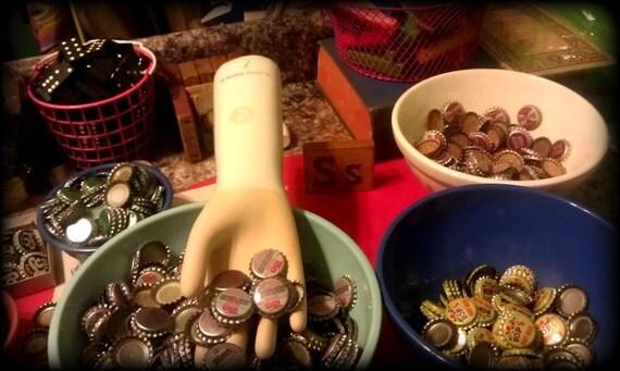 vintage bottle caps for mixed media art