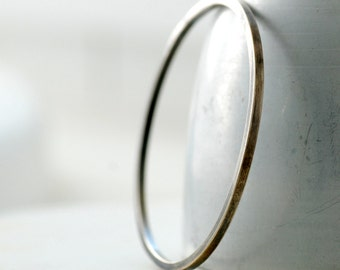 Silver Bangle Bracelet, Metalwork Bracelet, Simple Silver Bangle, Minimalist Jewelry, Everyday Jewelry