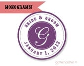 Personalized Gift Bag / Jam and Jelly Labels / Cupcake Toppers / Monogram - DIGITAL FILE