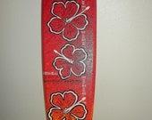 surfboard-red Hawaiian shirt