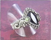 Wire Woven Ring Smokey Quartz Ring Sterling Silver Size 8 Ring Multi-Gemstone Ring Citrine Peridot Ring OOAK Genesis Ring SilverTrove