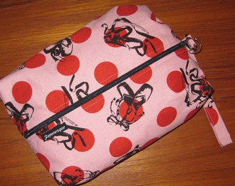 Ballet Shoes Design Kids Gym Shoe Bag or Travel Toiletries Pouch with Wrist Strap